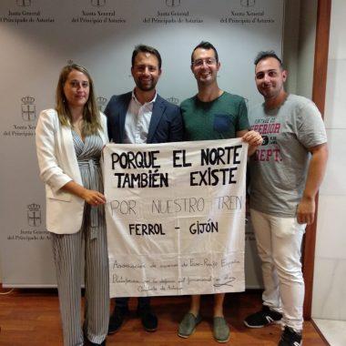 El PP recibe a la Asociación de Usuarios de RENFE-FEVE España y a la Plataforma por la Defensa del Ferrocarril en el Occidente de Asturias