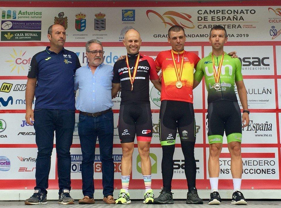 Mesneiro, Bronce en el Campeonato de España de Ciclismo Máster