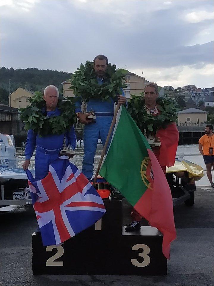 Los portugueses Cámara y Ribeiro, ganadores de la Copa del Mundo de Motonáutica de Navia