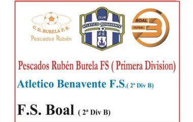 Triangular de Fútbol Sala este Sábado en Tapia con la participación del Burela de Primera División
