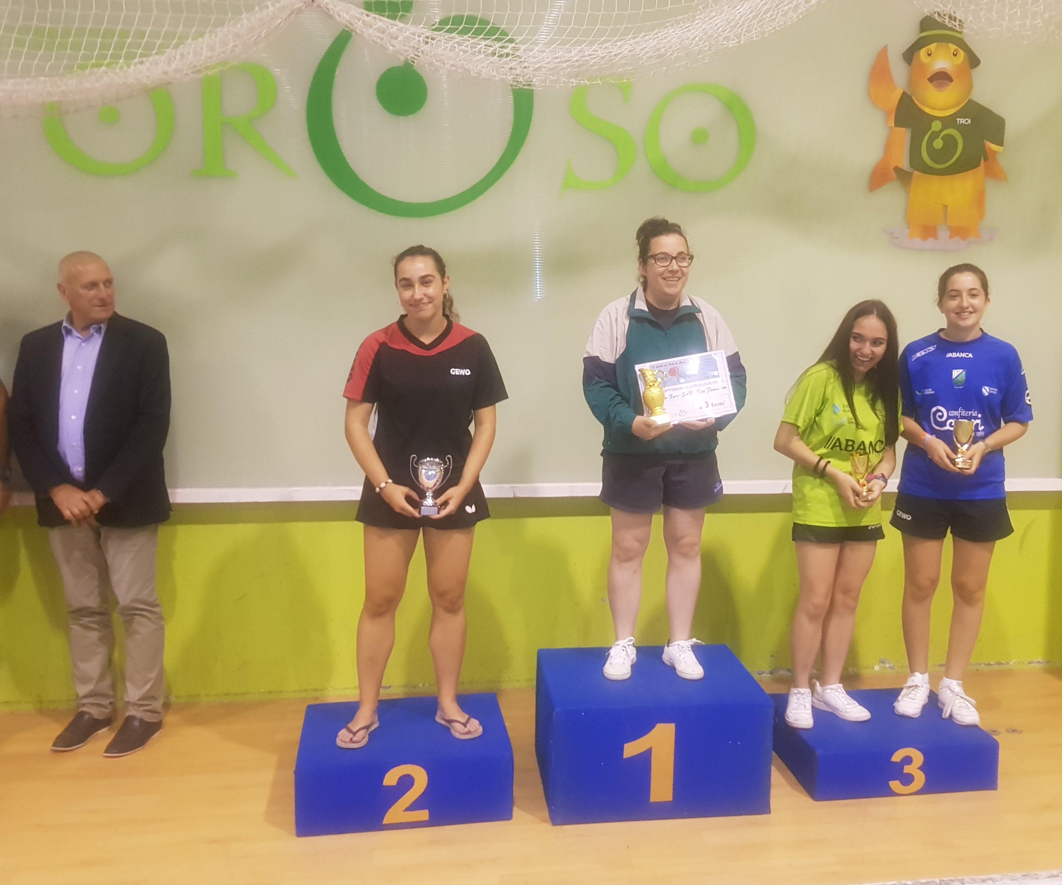 Itziar Dopico, Subcampeona Senior del Torneo Internacional de Oroso (A Coruña) de Tenis Mesa)
