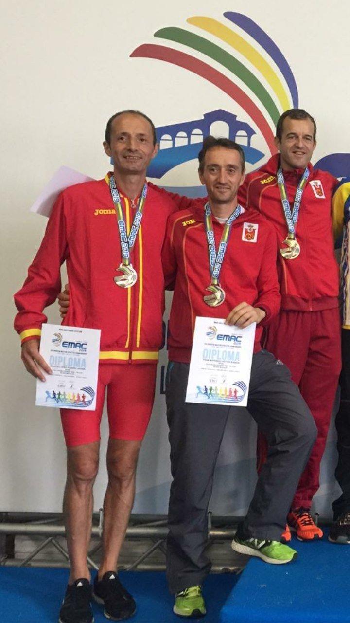 Javier Barcia, Atleta Máster de Illano, Subcampeón de Europa de Cross en la categoría M-45