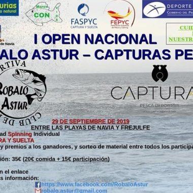 I Open Nacional de Pesca Robalo Astur el domingo entre las Playas de Navia y Frejulfe