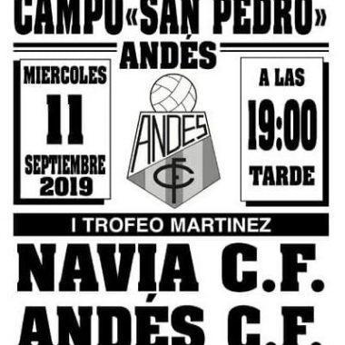 Amistoso Andés-Navia, este miércoles, a las 19 horas, en San Pedro
