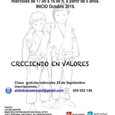 Curso de Kárate 2019-20 en el Polideportivo de Barres impartido por Julián Martín