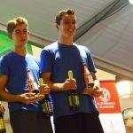Triunfo del K-2 de Santiago Suárez y Diego Fdez (Club Albiones), en categoría Cadete, en la 74 Regata de Villaviciosa de Piragüismo