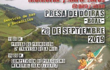 II Travesía de la Miel de Piragüismo el próximo sábado en Doiras (Boal) con mas de 300 palistas