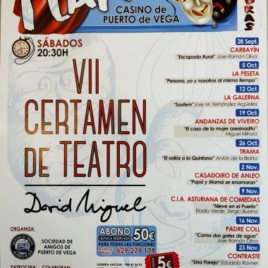Comienza el VII Certamen de Teatro David Miguel de Puerto de Vega (Navia)