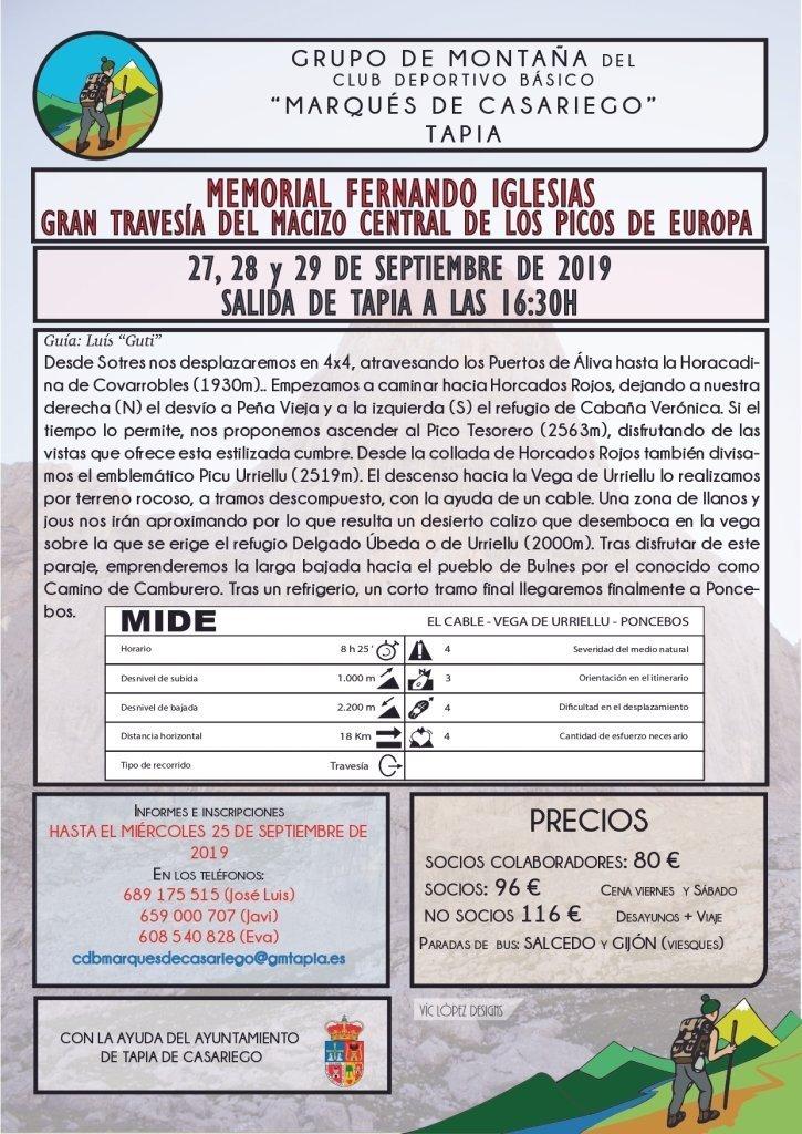 Próximas Actividades del Grupo de Montaña Marqués de Casariego de Tapia