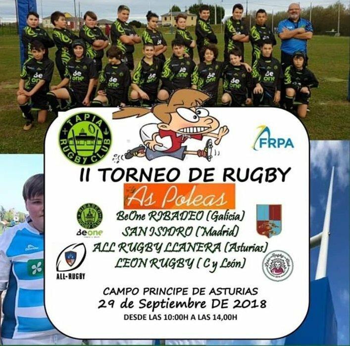 II Torneo As Poleas de Rugby Sábado y Domingo en Ribadeo y Tapia