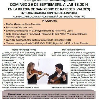 La Asociación de Vecinos del Valle de Paredes organiza el  concierto de Enamalgama, en la iglesia parroquial