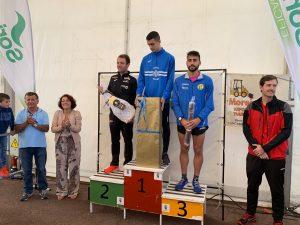 David Alfonso y la cántabra Merche Palacios ganadores de la V Carrera Popular San Miguel de La Caridad
