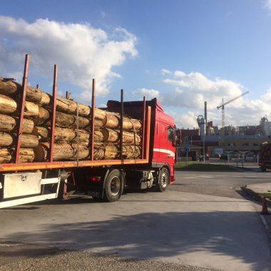 Convocada una caravana de camiones contra el cierre de ENCE en Pontevedra