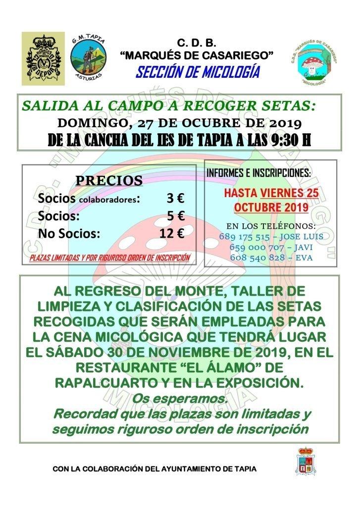 Actividades del Grupo de Montaña Marqués de Casariego de Tapia para el próximo fin de semana