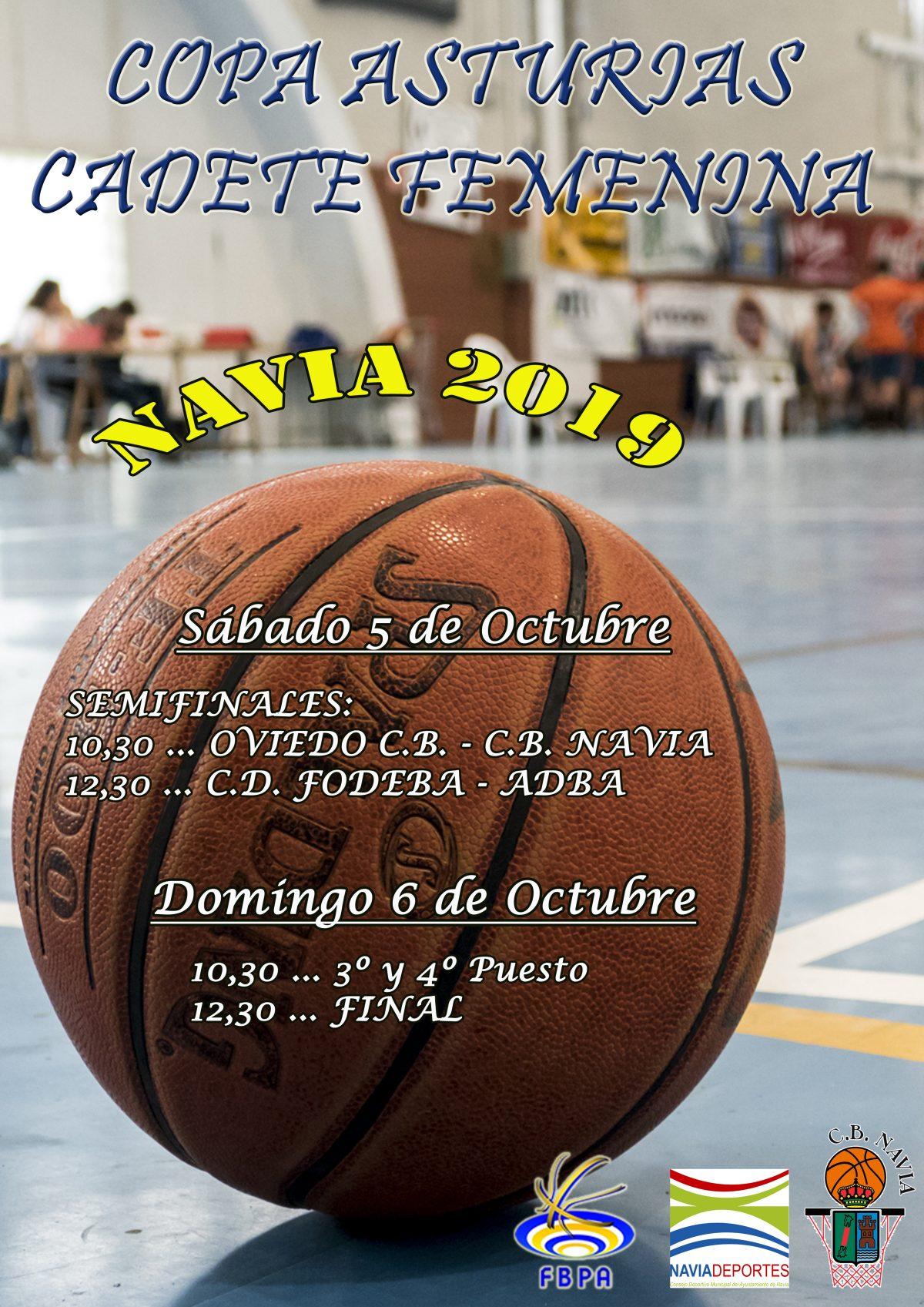 Navia acoge este fin de semana la Final a Cuatro de la Copa Asturias Femenina Cadete de Baloncesto