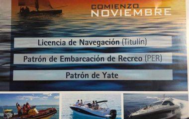 Curso de Navegación el próximo mes de Noviembre en Figueras