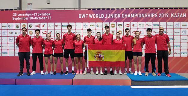 España termina Decimocuarta en el Mundial Junior de Kazán de Bádminton