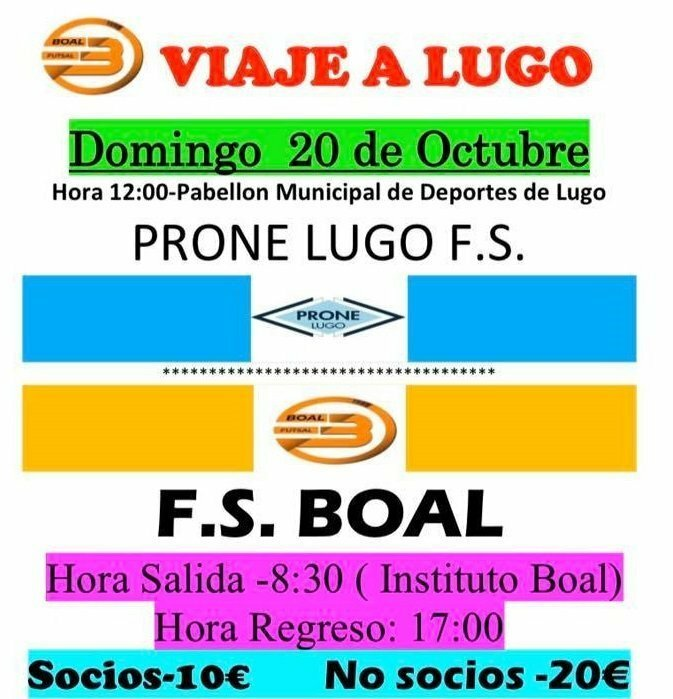 El Boal FS se desplaza el domingo a la cancha del Prone Lugo