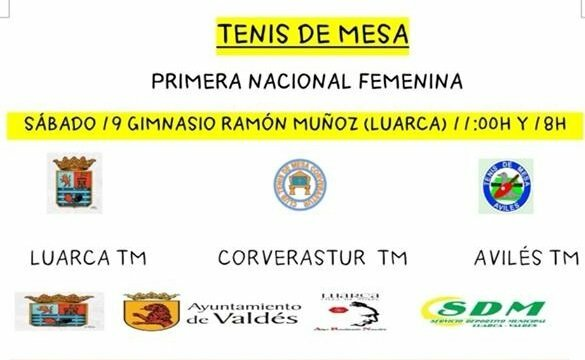 Luarca acoge la Primera Jornada de Primera Nacional Femenina de Tenis Mesa