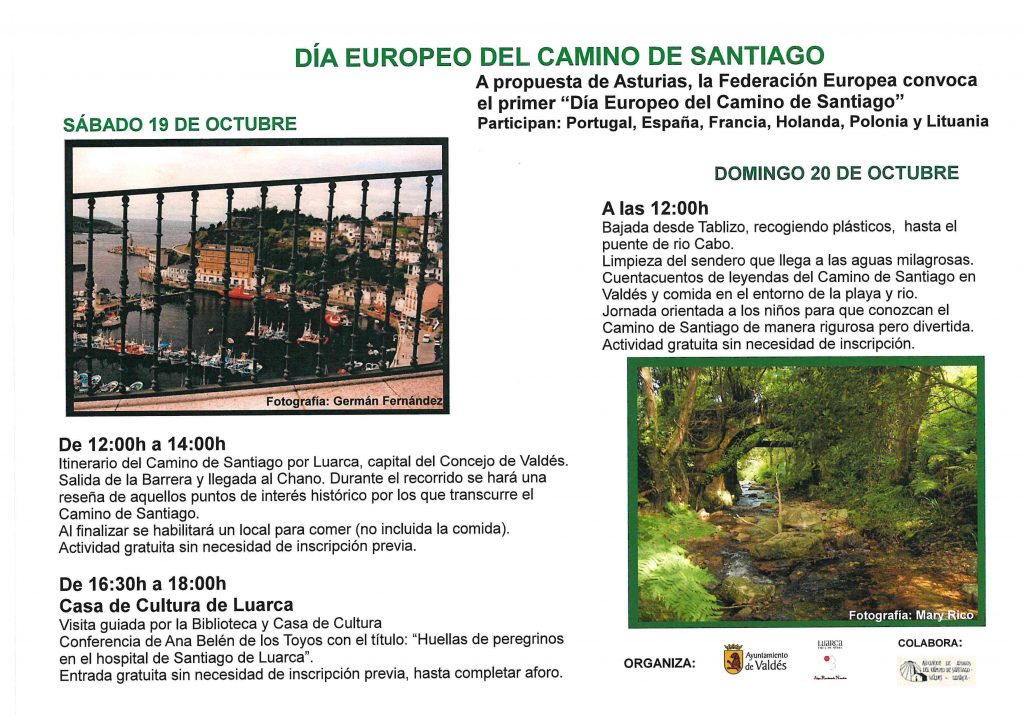 Valdés conmemora el Día Europeo del Camino de Santiago
