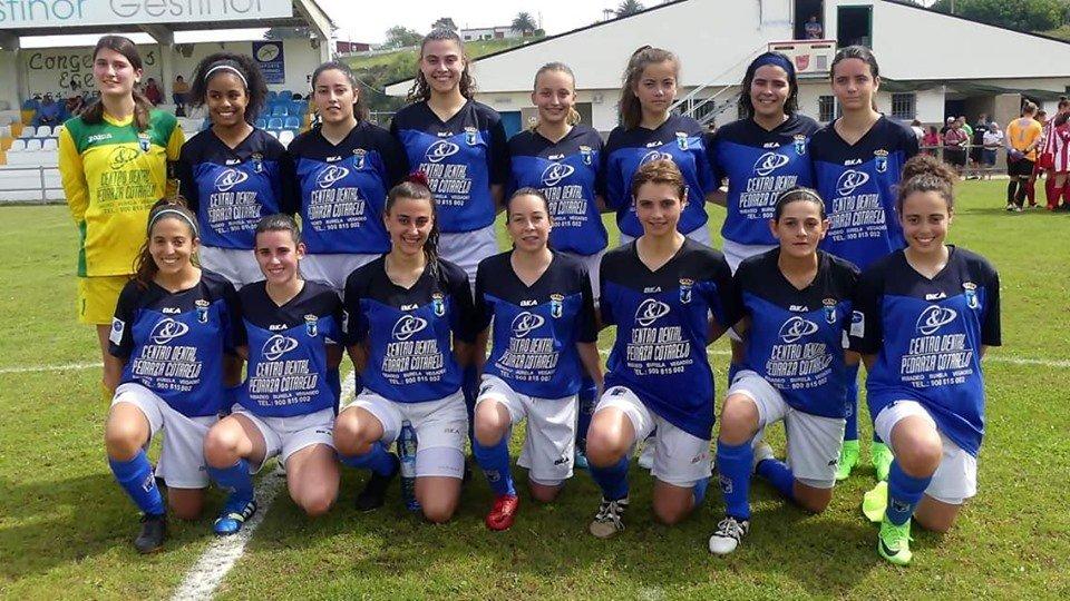 Primera victoria liguera del Real Tapia Femenino ante El Femiastur (2-0)