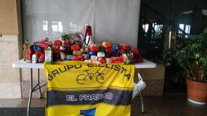 150 Kilos de alimentos recogidos en la XI Quedada BTT Concejo de El Franco para los Servicios Sociales Municipales