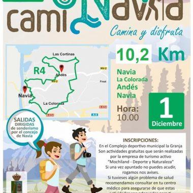 Última Ruta Caminavia del año el domingo desde las 10 de la mañana