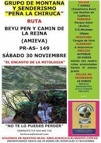 El Grupo de Montaña La Chiruca realizará el sábado la Ruta del Beyun Pen