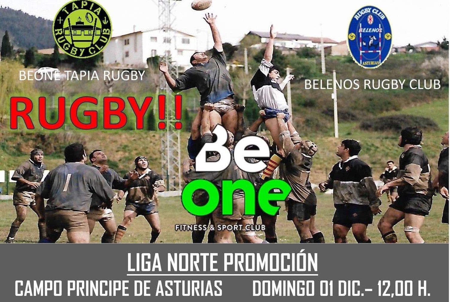 Tapia Rugby-Belenos de Avilés, el domingo en el campo Principe de Asturias