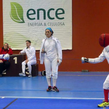 """Alejandro Castro y Araceli Bugallo, Vencedores de la III Copa de Espada de Esgrima """"Ramón de Campoamor"""" celebrada en Navia"""