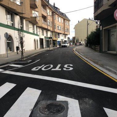 Abierta al tráfico la calle Pintor Fierros de Ribadeo