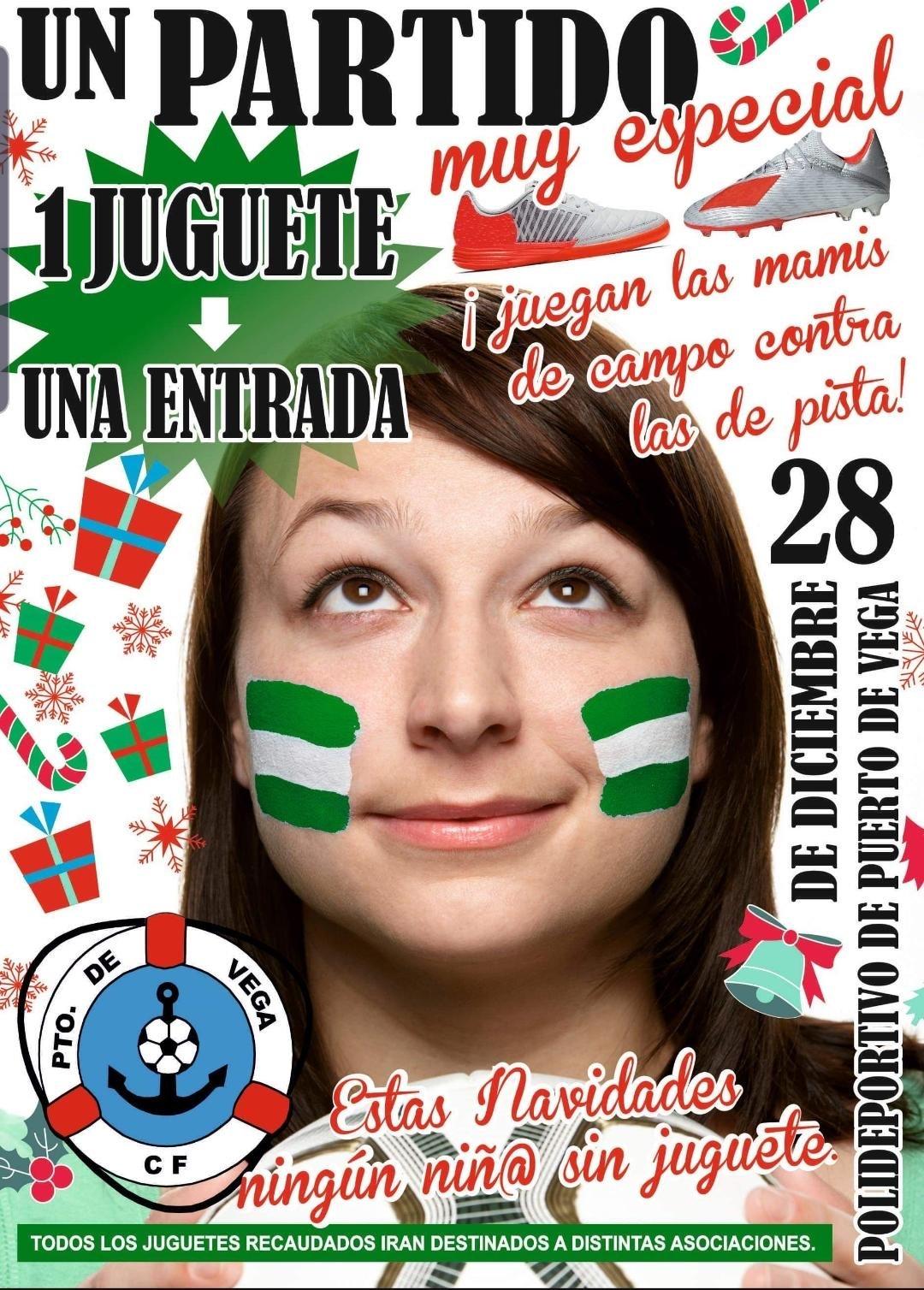 Partido de Madres del Puerto de Vega CF este Sábado para que ningún Niño se quede sin Juguete en Navidad