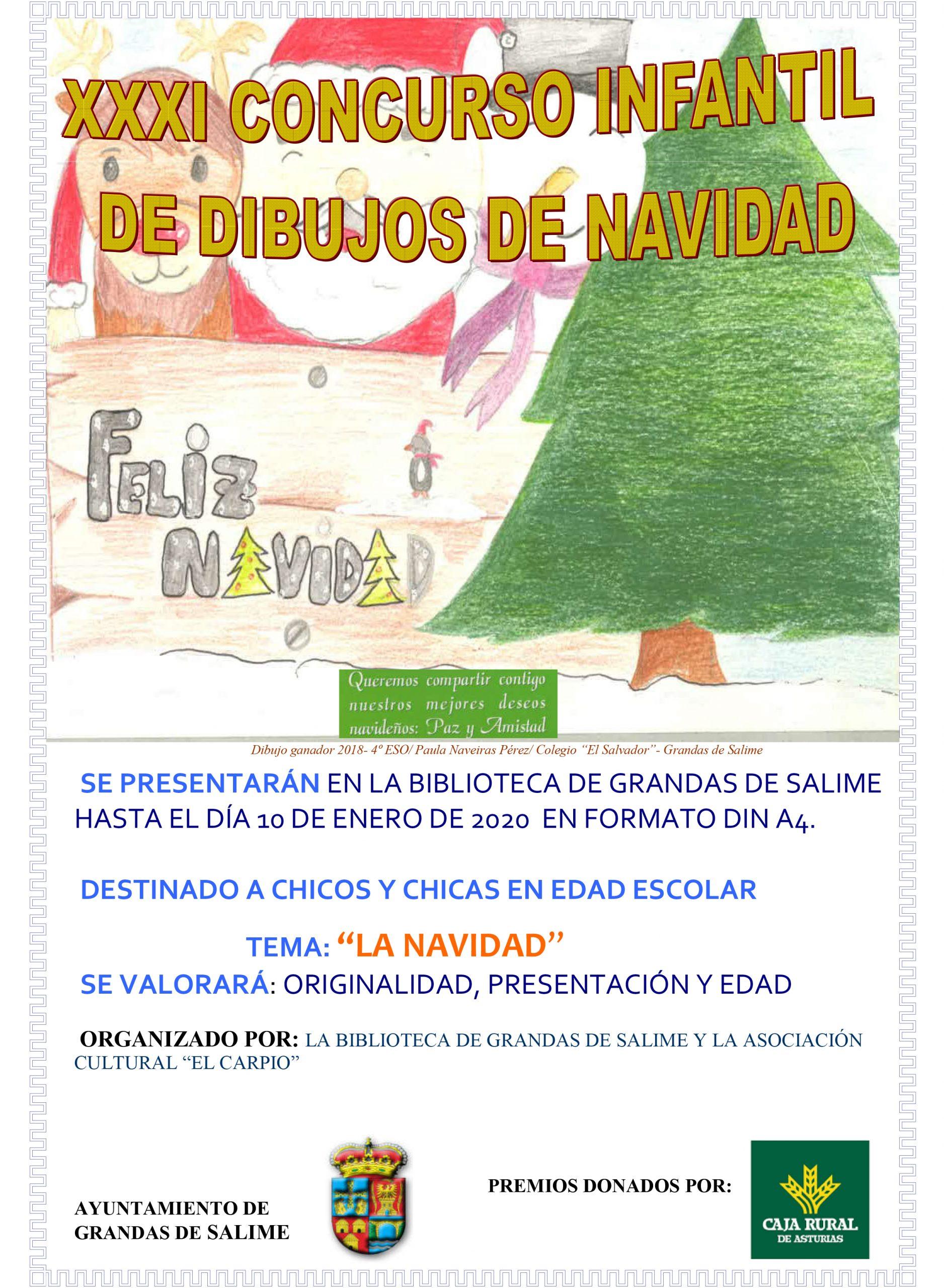Nueva edición del Concurso de Dibujos de Navidad de Grandas de Salime