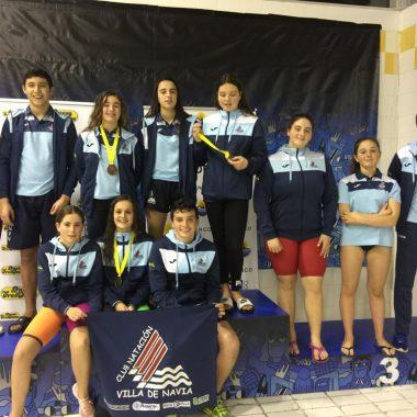 Buenos Resultados de los Nadadores del Villa de Navia en el Trofeo Ciudad de Oviedo