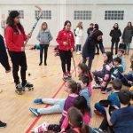 Talleres de Baloncesto en Silla de Ruedas y Hockey sobre Patines con las Jugadoras del Telecable Gijón en la Semana de la Capacidad del IES de Vegadeo