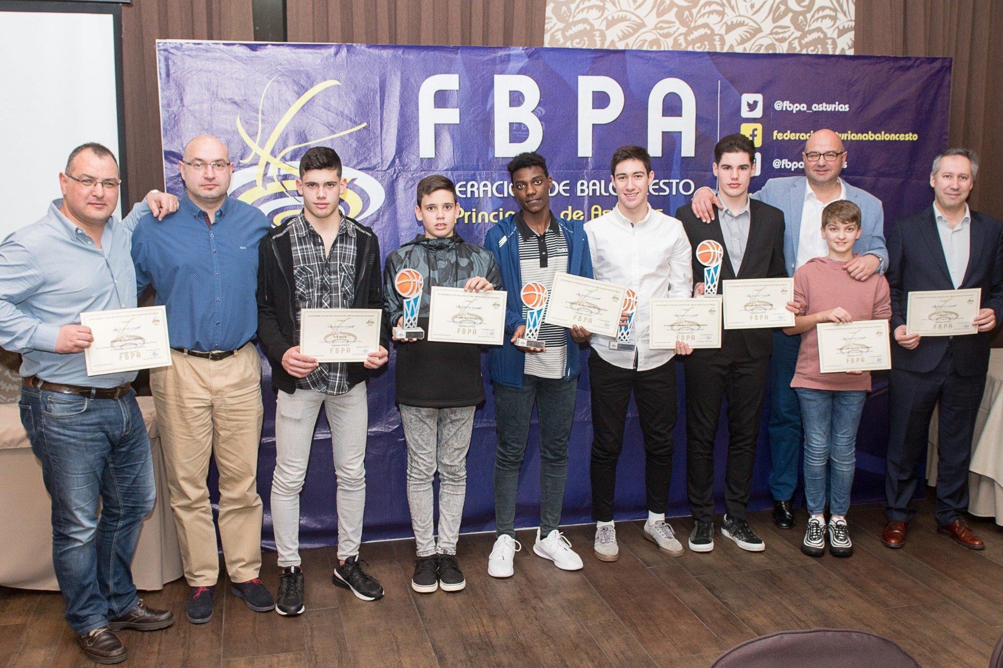 Protagonismo del CB Navia en la Gala del Basket Asturiano