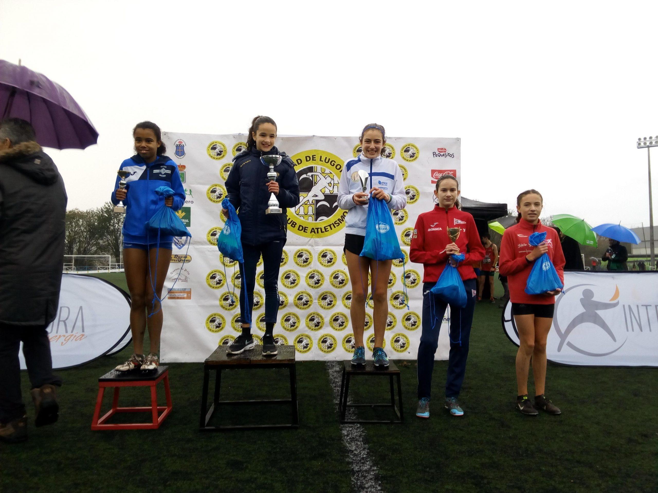 Bronce para Baia Touza (Club Atletismo Occidente), en el Campeonato de Asturias de Cross Corto