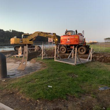 Han comenzado las obras de refuerzo del paseo marítimo de Navia