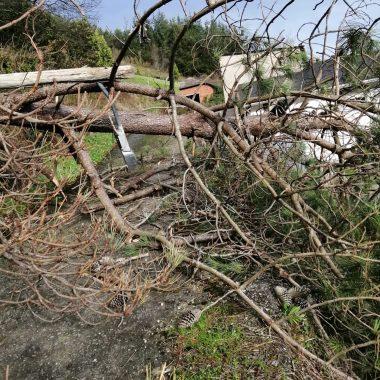 El temporal ocasiona daños en el alumbrado público y suministro eléctrico de Villayón