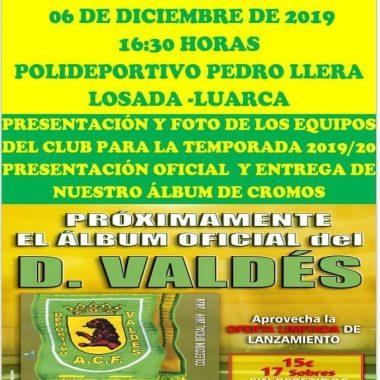 Presentación de los Equipos del Valdés ACF y del Album de Cromos del Club