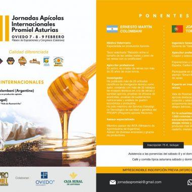 III Jornadas Apícolas Internacionales Promiel Asturias del 7 al 9 de Febrero enOviedo