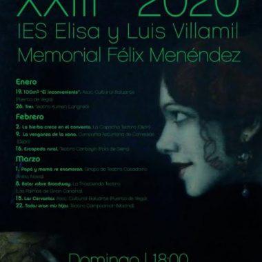 A punto de comenzar los XXIII Encuentros Teatrales del IES Elisa y Luis Villamil
