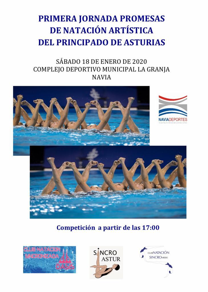 Natación Artística el próximo Sábado en la Piscina Municipal de Navia