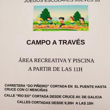 San Tirso de Abres acoge este jueves la 3ª Prueba Comarcal de Campo a Través de los Juegos Deportivos