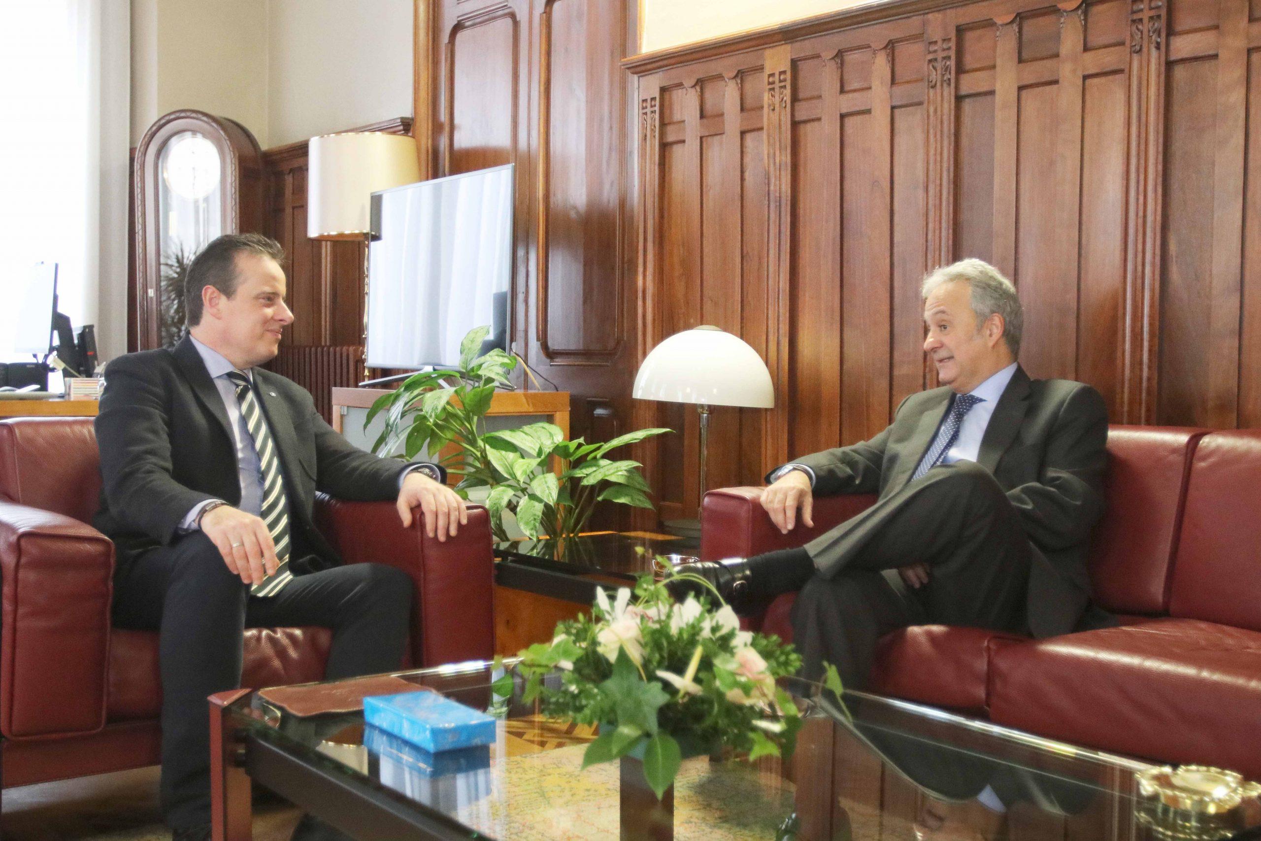El Presidente de la Junta recibe al Presidente del Tribunal Superior de Justicia de Asturias