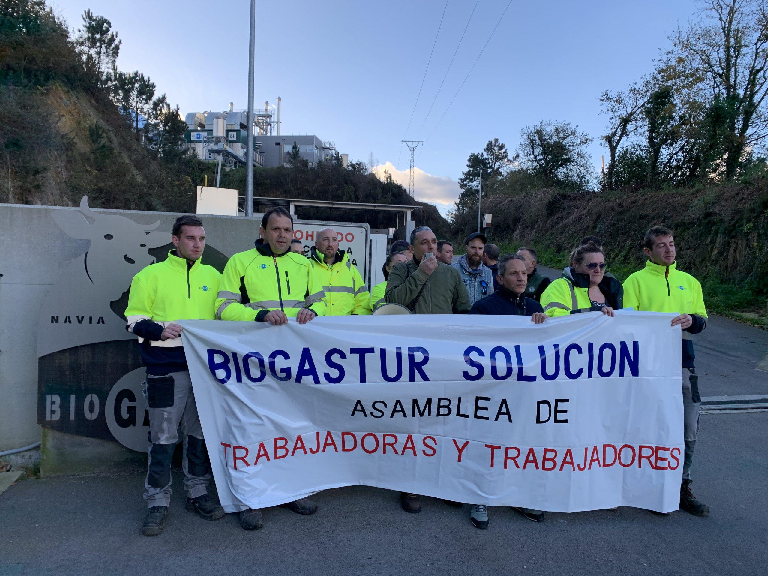 La asamblea de trabajadores/oras de Biogastur (Navia) pide una solución