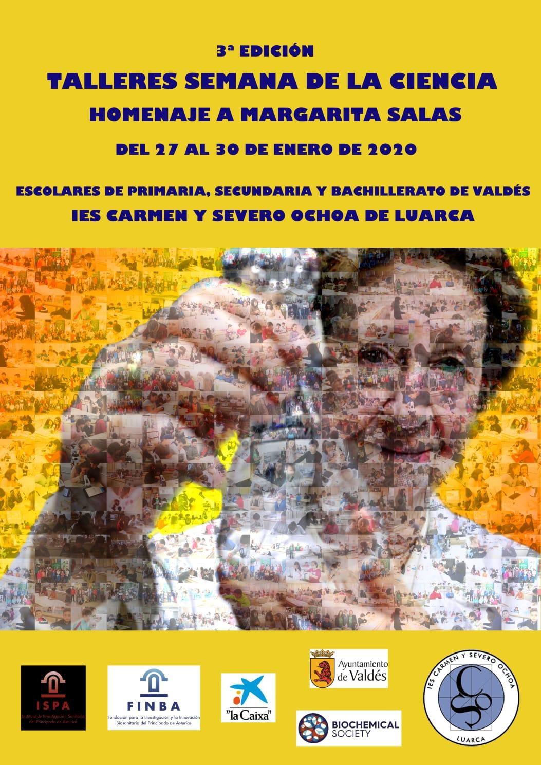 Talleres Semana de la Ciencia en el IES Carmen y Severo Ochoa de Luarca, homenaje a Margarita Salas