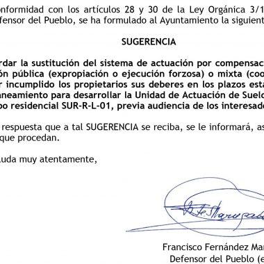Pide al ayuntamiento de Valdés que disuelva la unidad de actuación urbanística en la que está incluído su terreno, ante la falta de acción del resto de propietarios