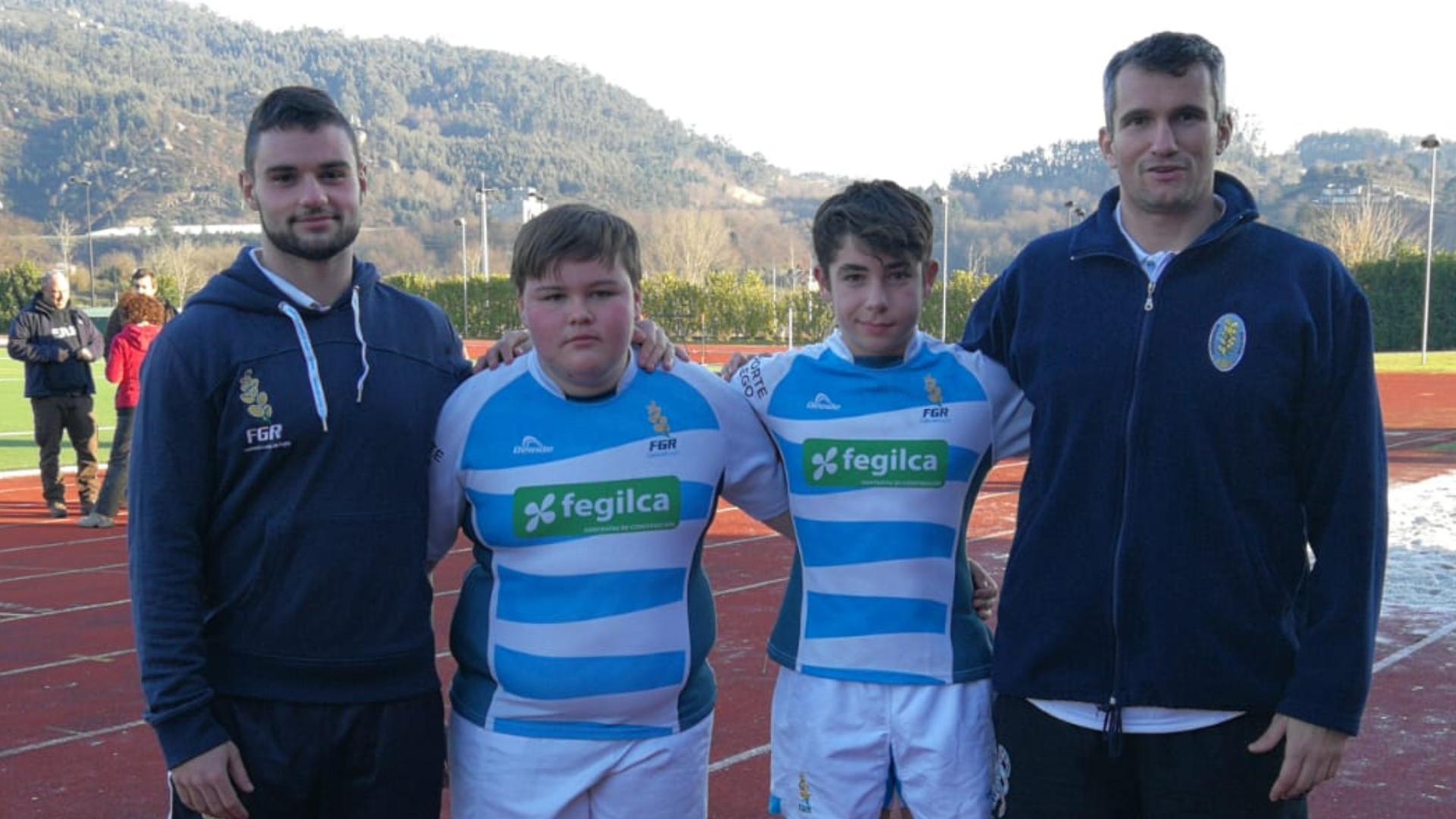 Álvaro y Dario (Beone Rugby), disputaron con la Selección Gallega un amistoso en Portugal