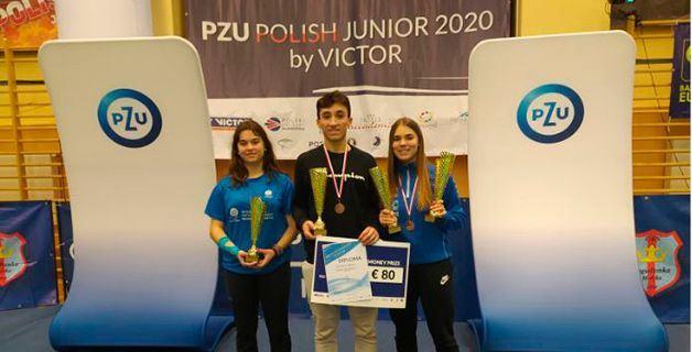 Una Plata y un Bronce para España en el Torneo Internacional Víctor Polish Junior de Bádminton